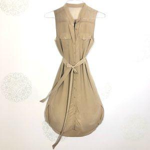 Club Monaco Silk Safari Dress
